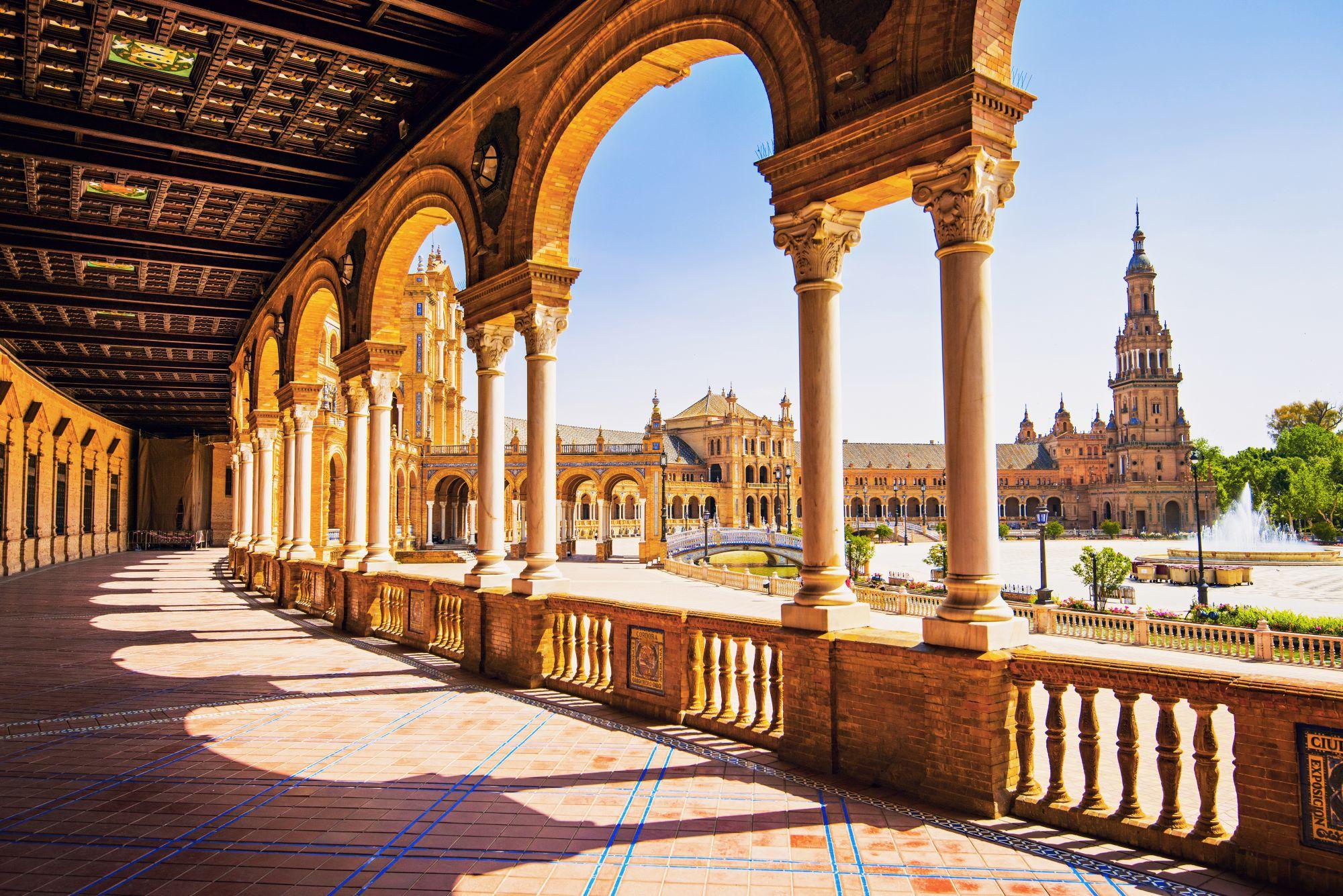 Sewilla widok pałacu