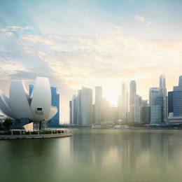 Singapur widok na marinę