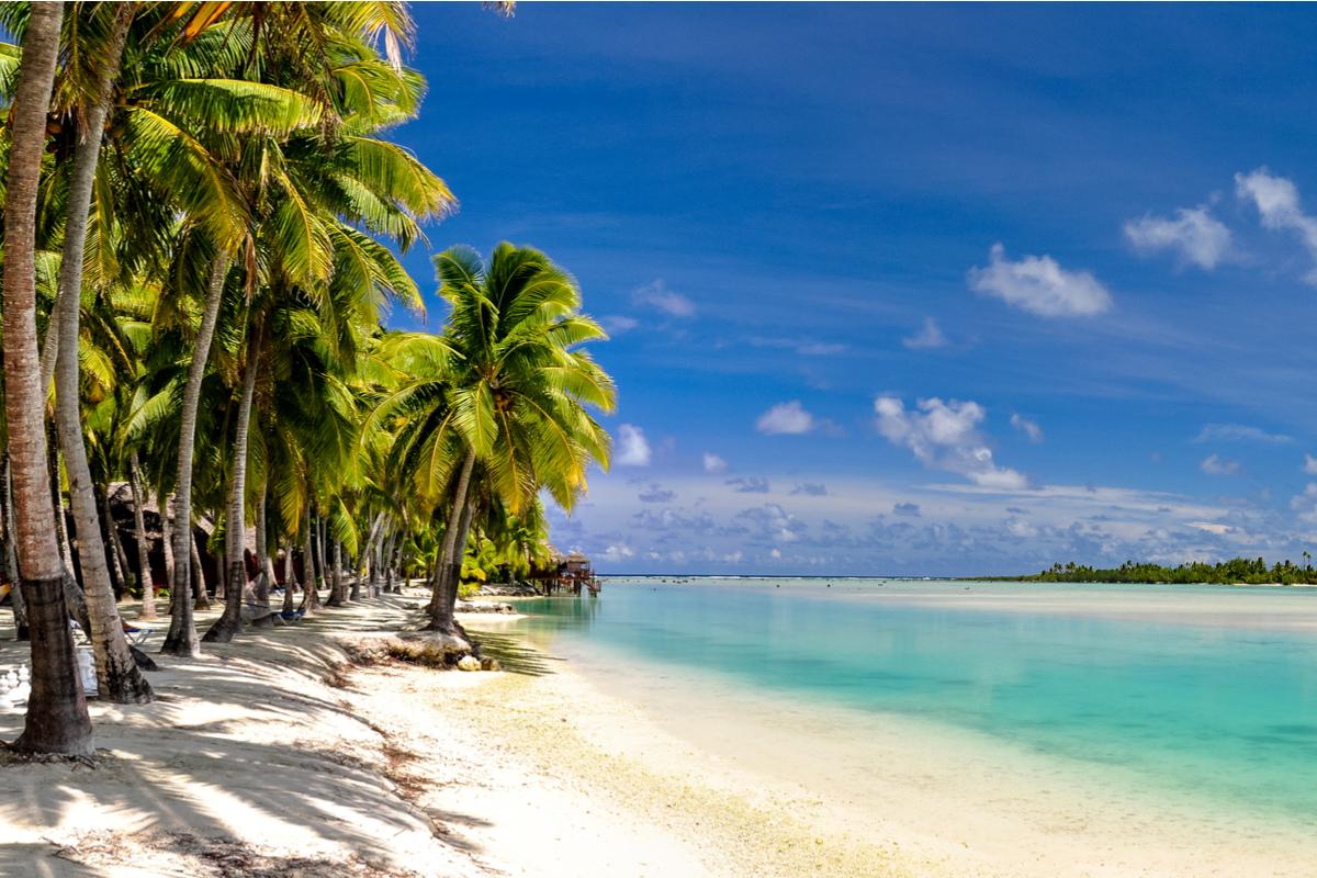 wyspy cooka plaża