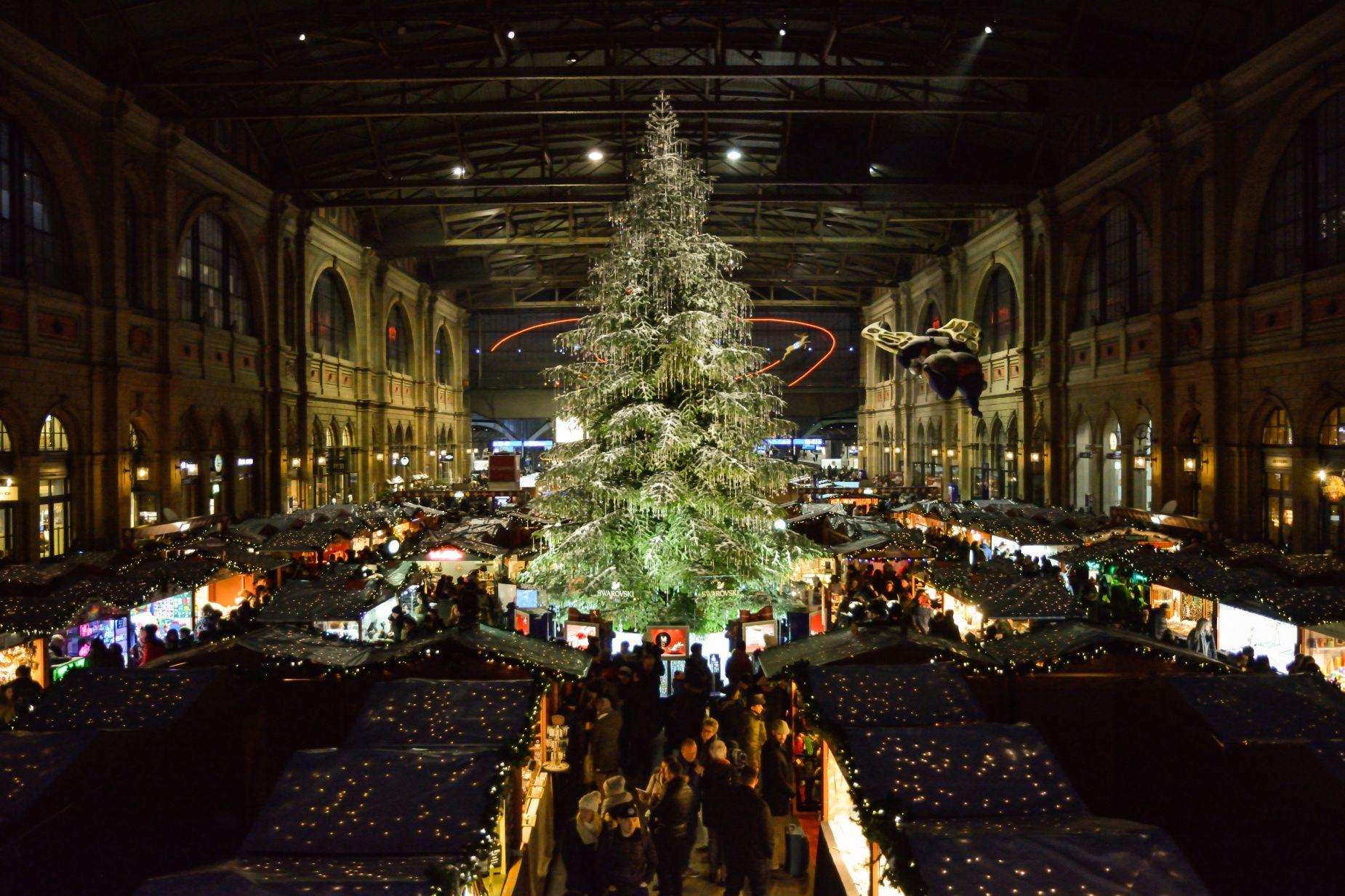 Market świąteczny w Zurychu