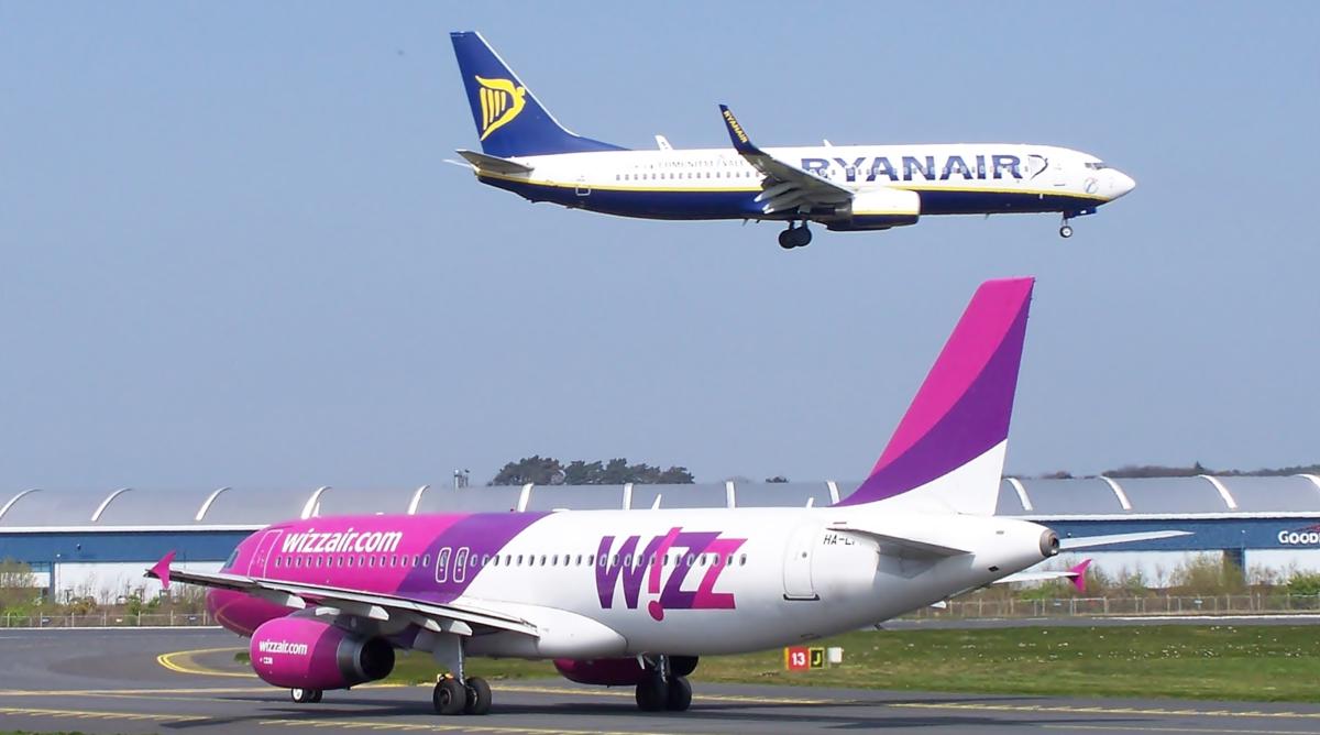 samoloty Ryanair Wizz Air