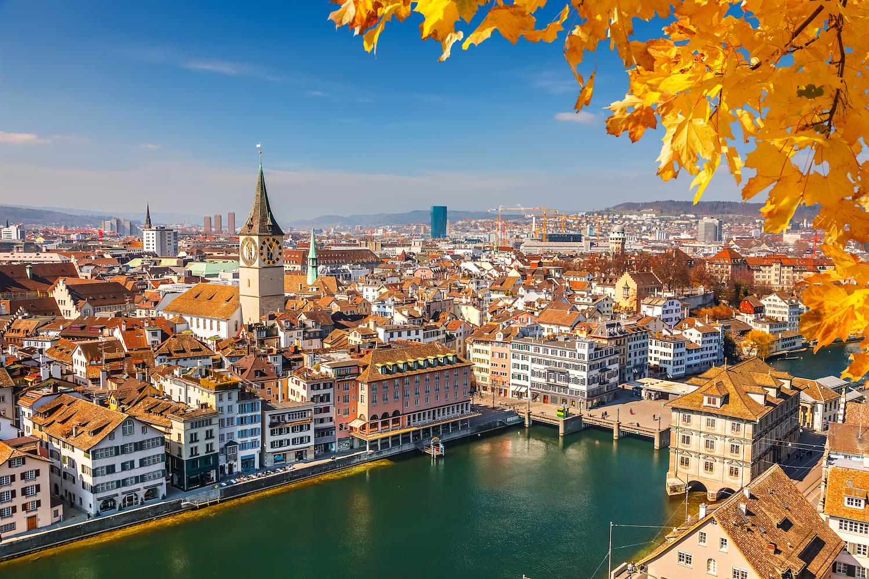 panorama Starego Miasta w Zurychu
