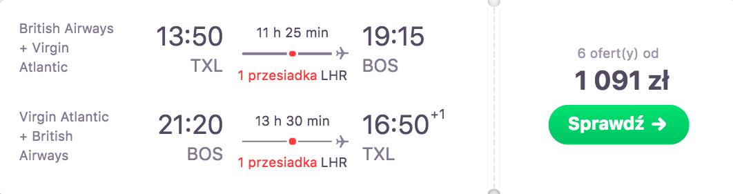 zarzerwuj loty do bostonu