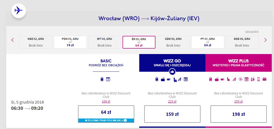 Kijów lot