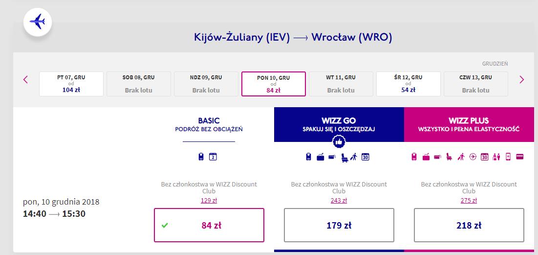 Wrocław lot