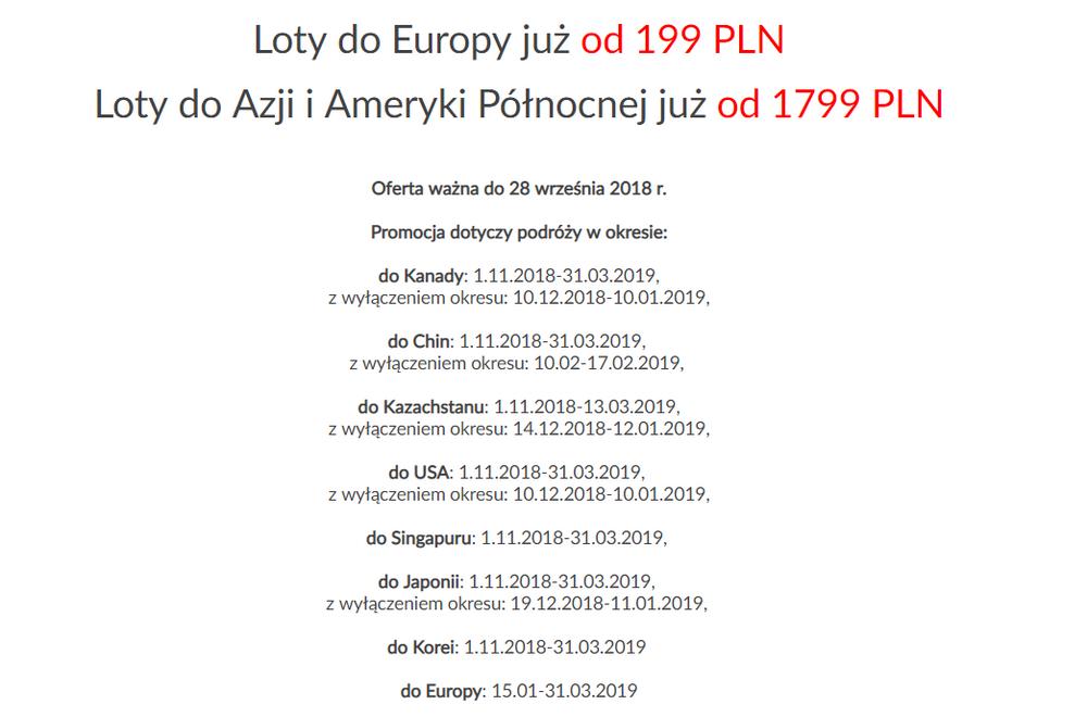 7b4bc5c57d21c0 Wyprzedaż PLL LOT: m.in. Tel Awiw, Dubrownik, Larnaka, Barcelona od ...