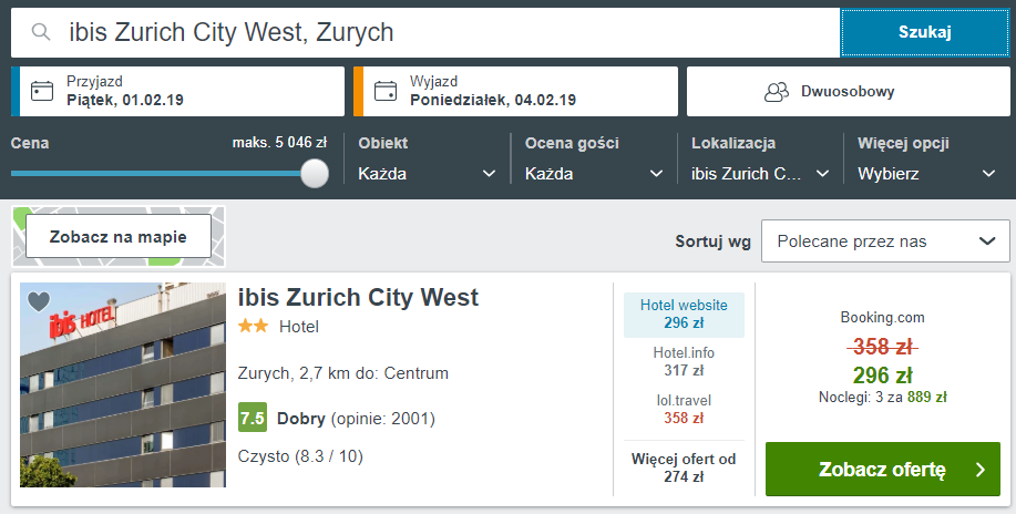 Zurych hotel