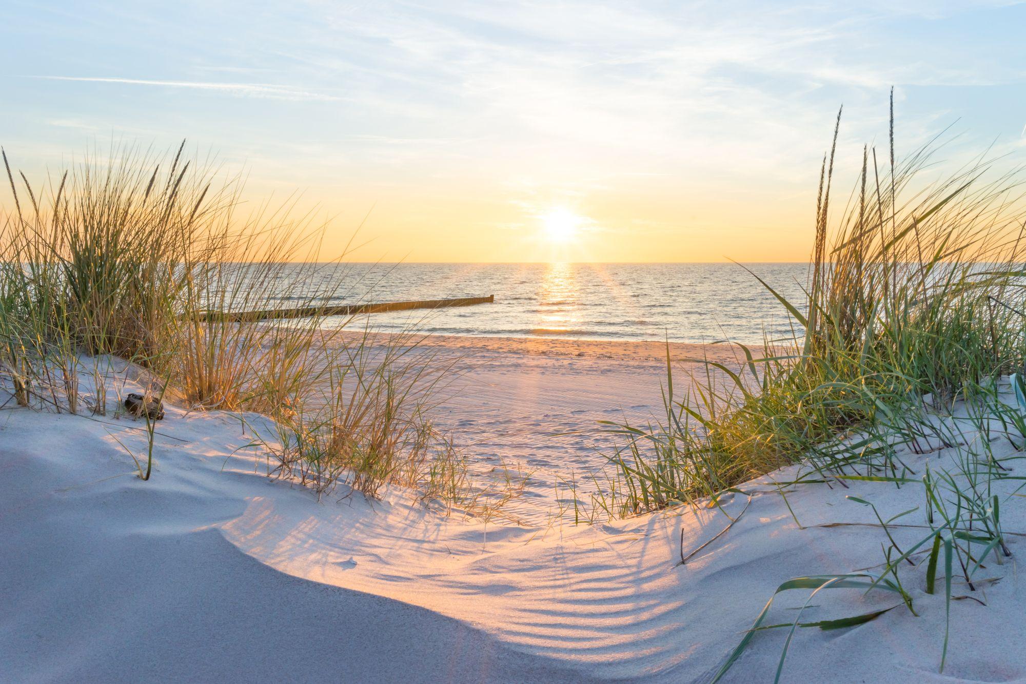 Bałtyk widok plaży