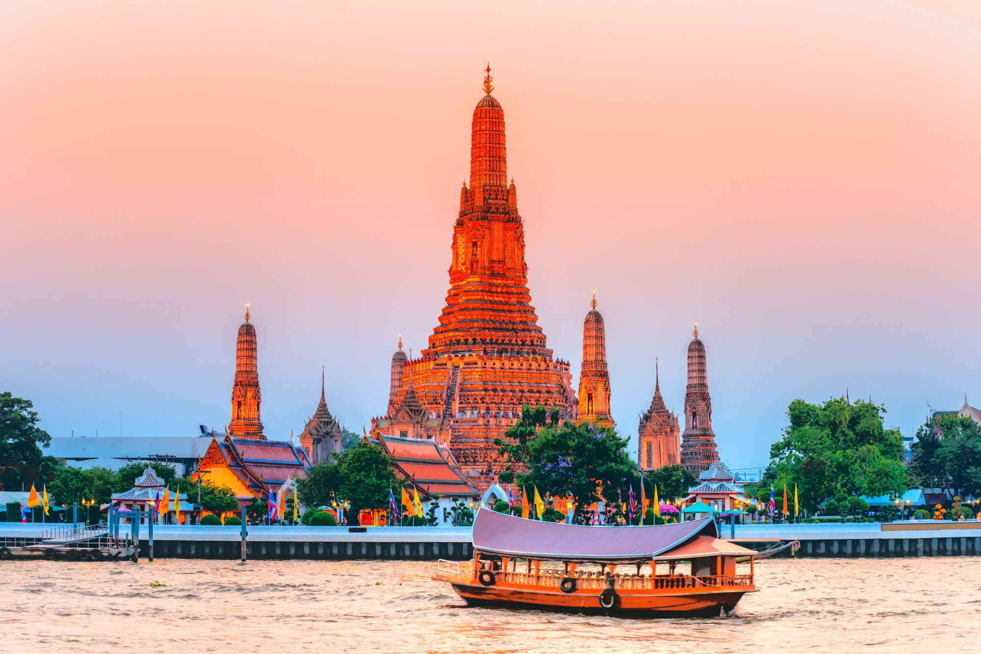 Bangkok widok świątyni