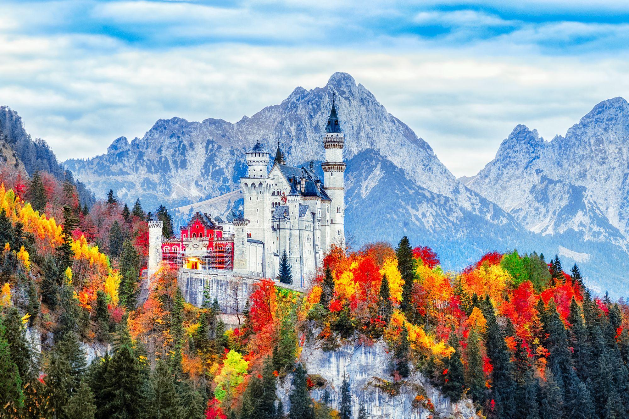 Bawaria widok zamku