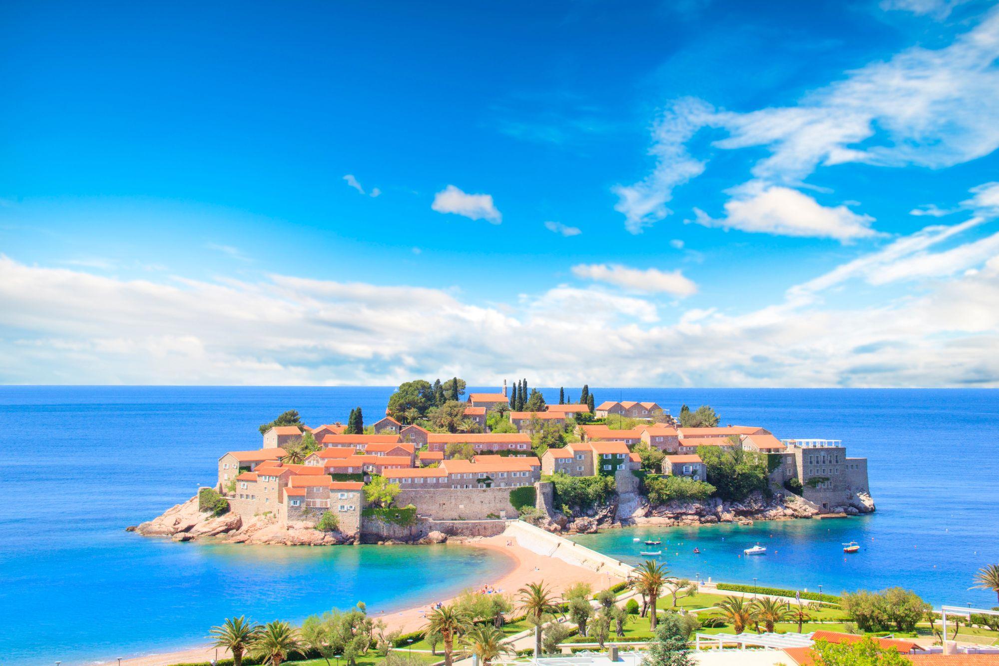 Czarnogóra widok wyspy