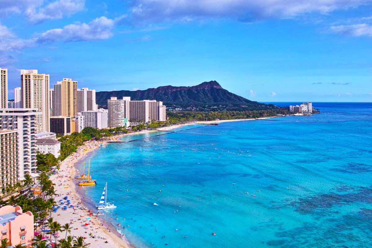 Waikiki plaża Hawaje