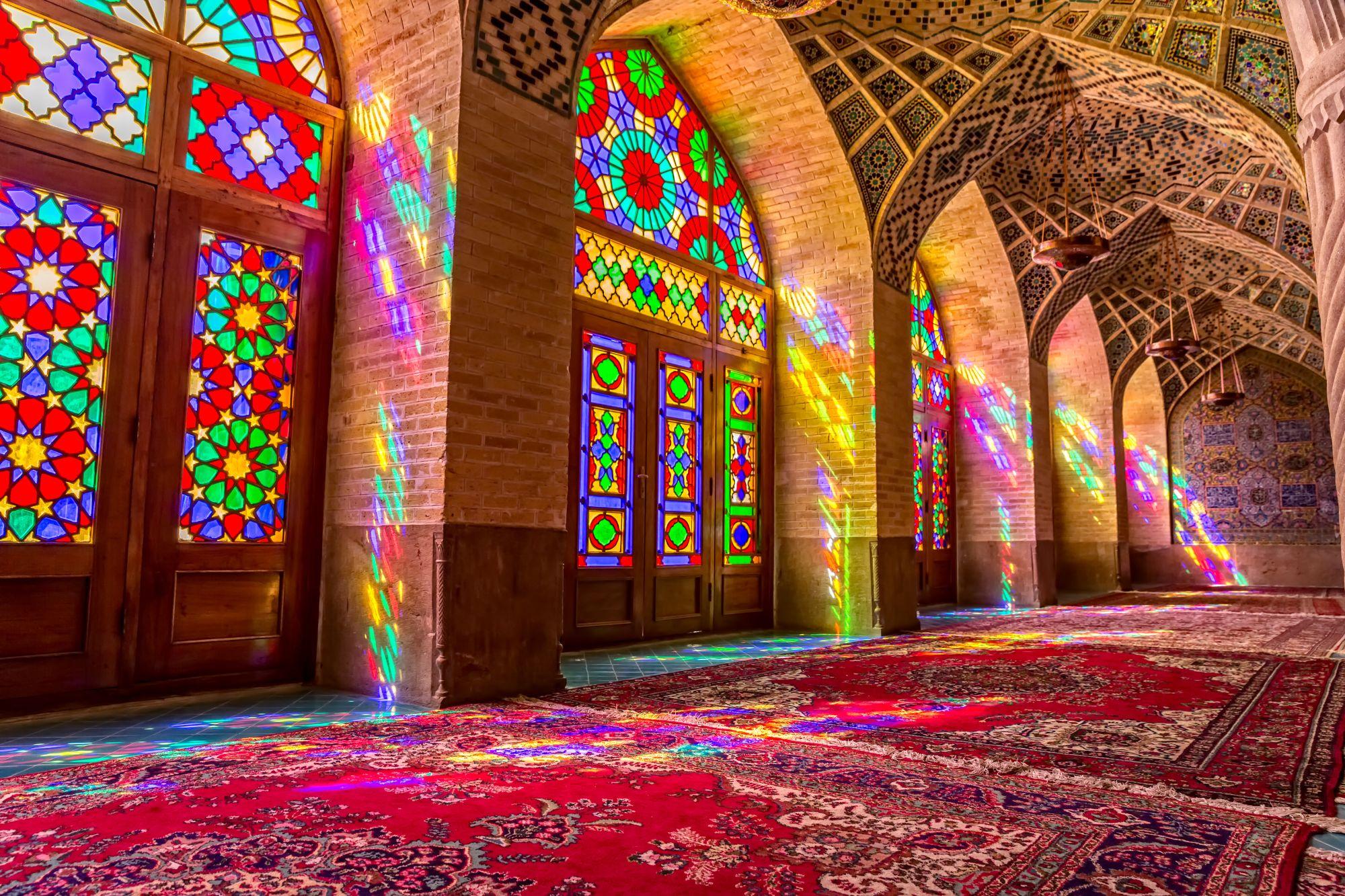 Iran wnętrze meczetu