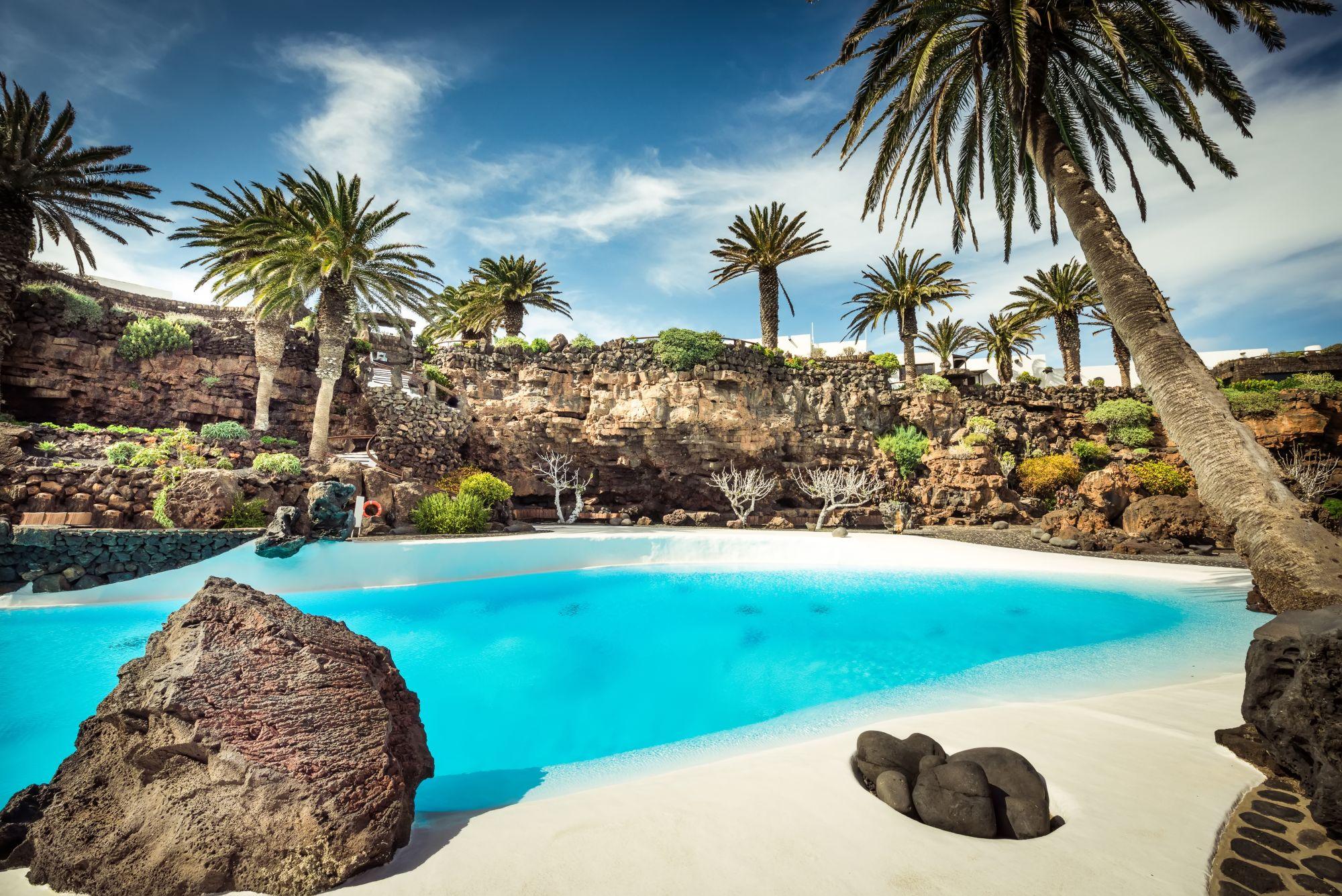 Lanzarote widok zatoki