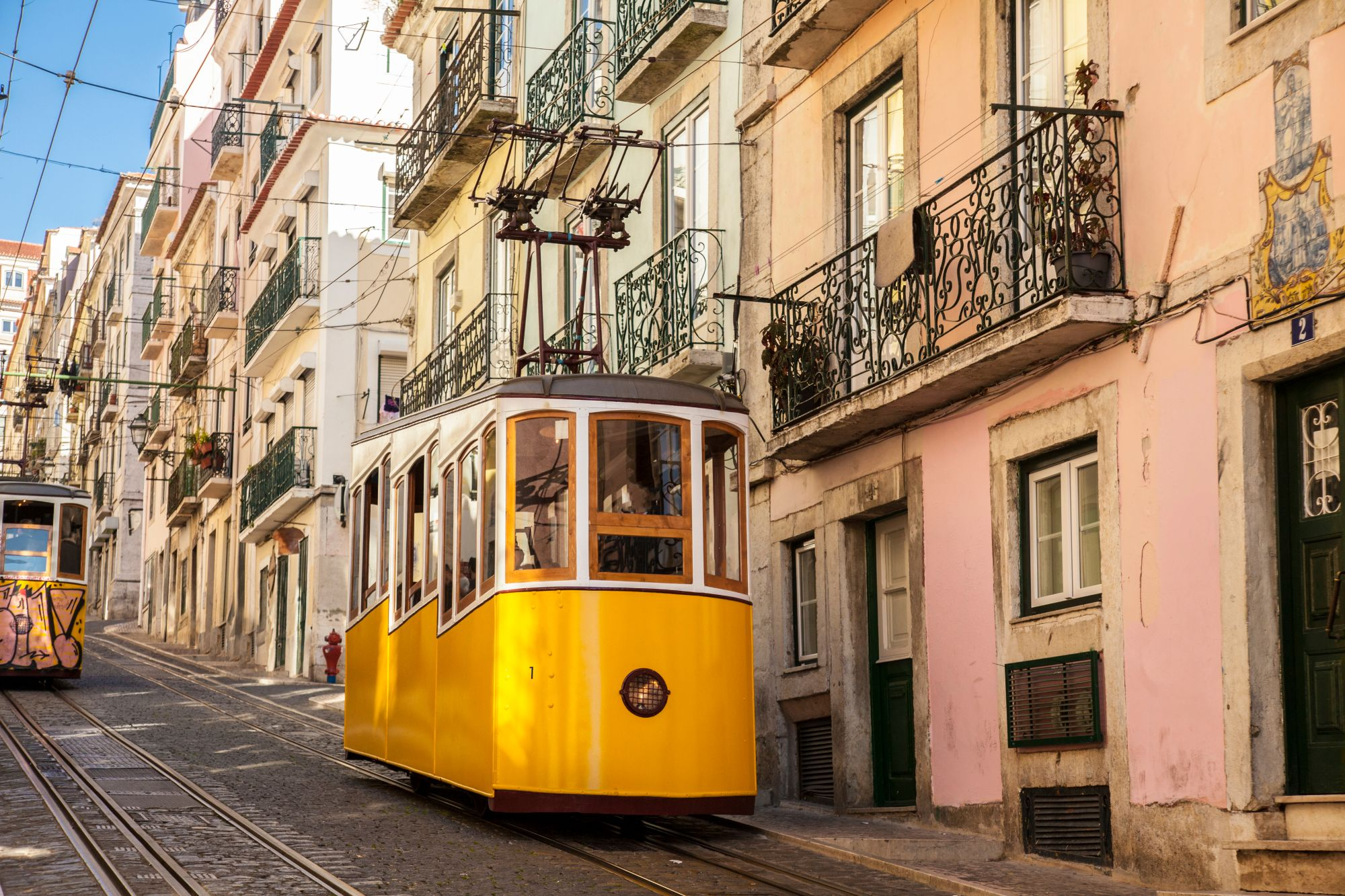 Lizbona widok tramwaju