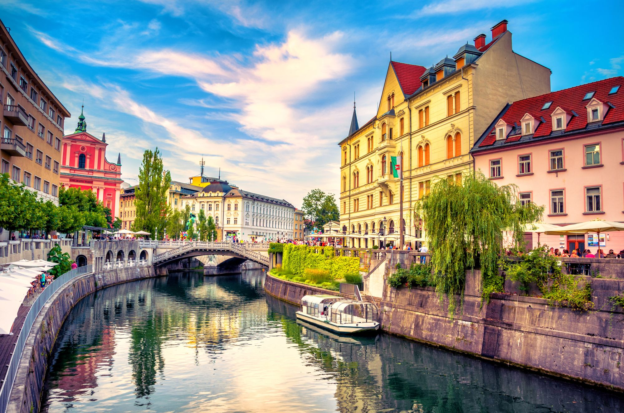 Lublana widok miasta