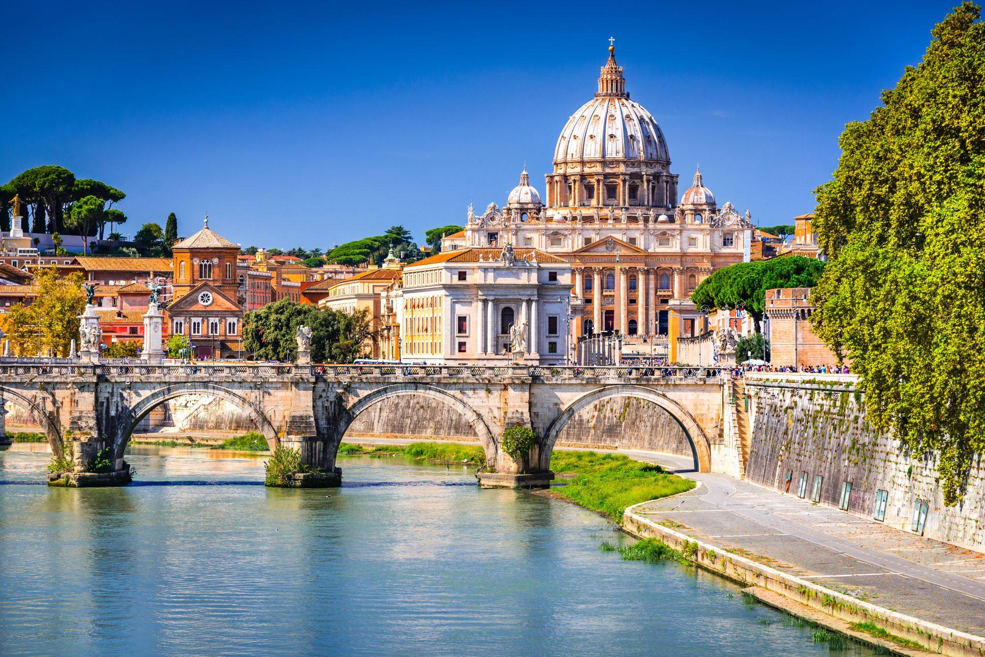 Rzym widok mostu