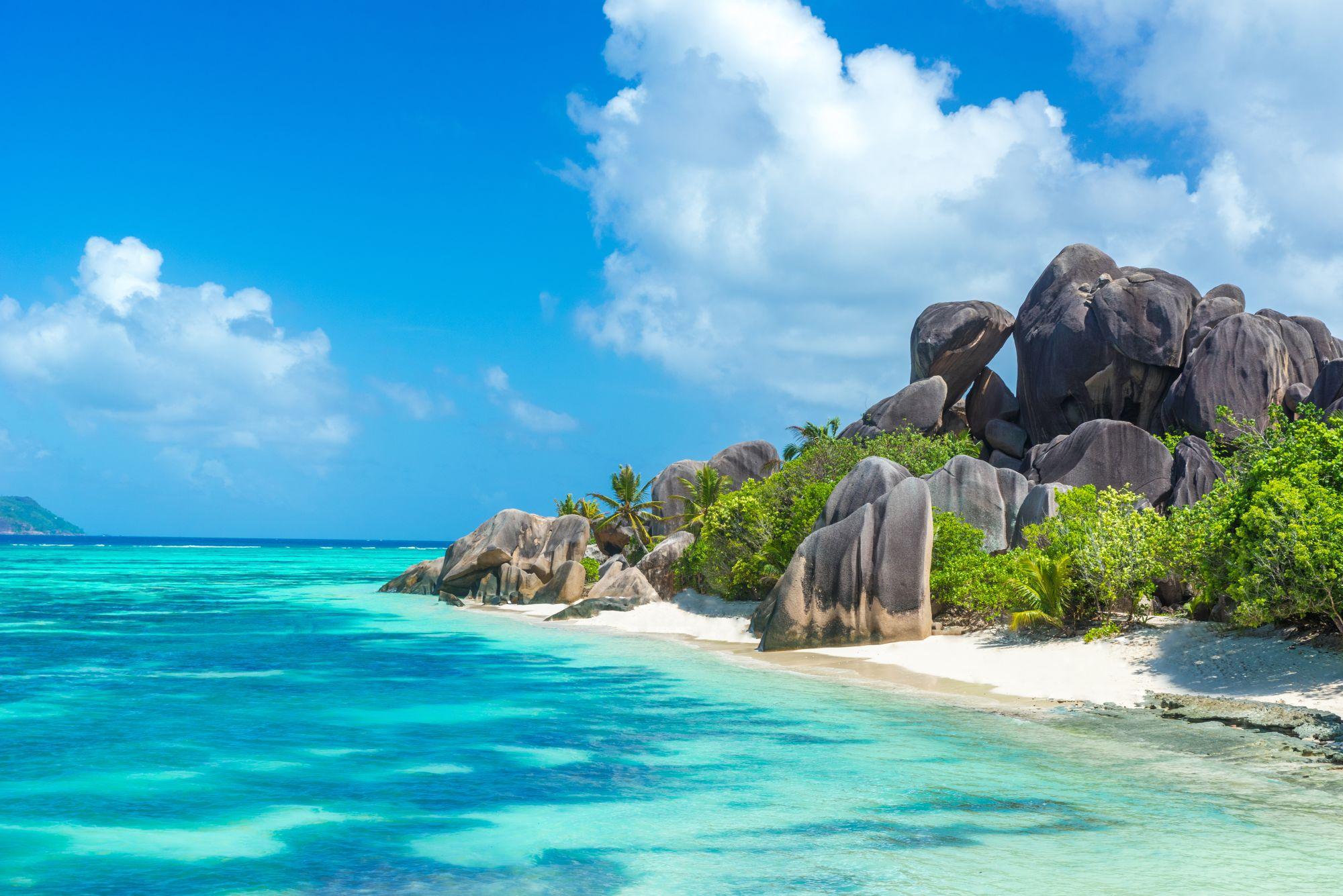 Seszele widok plaży