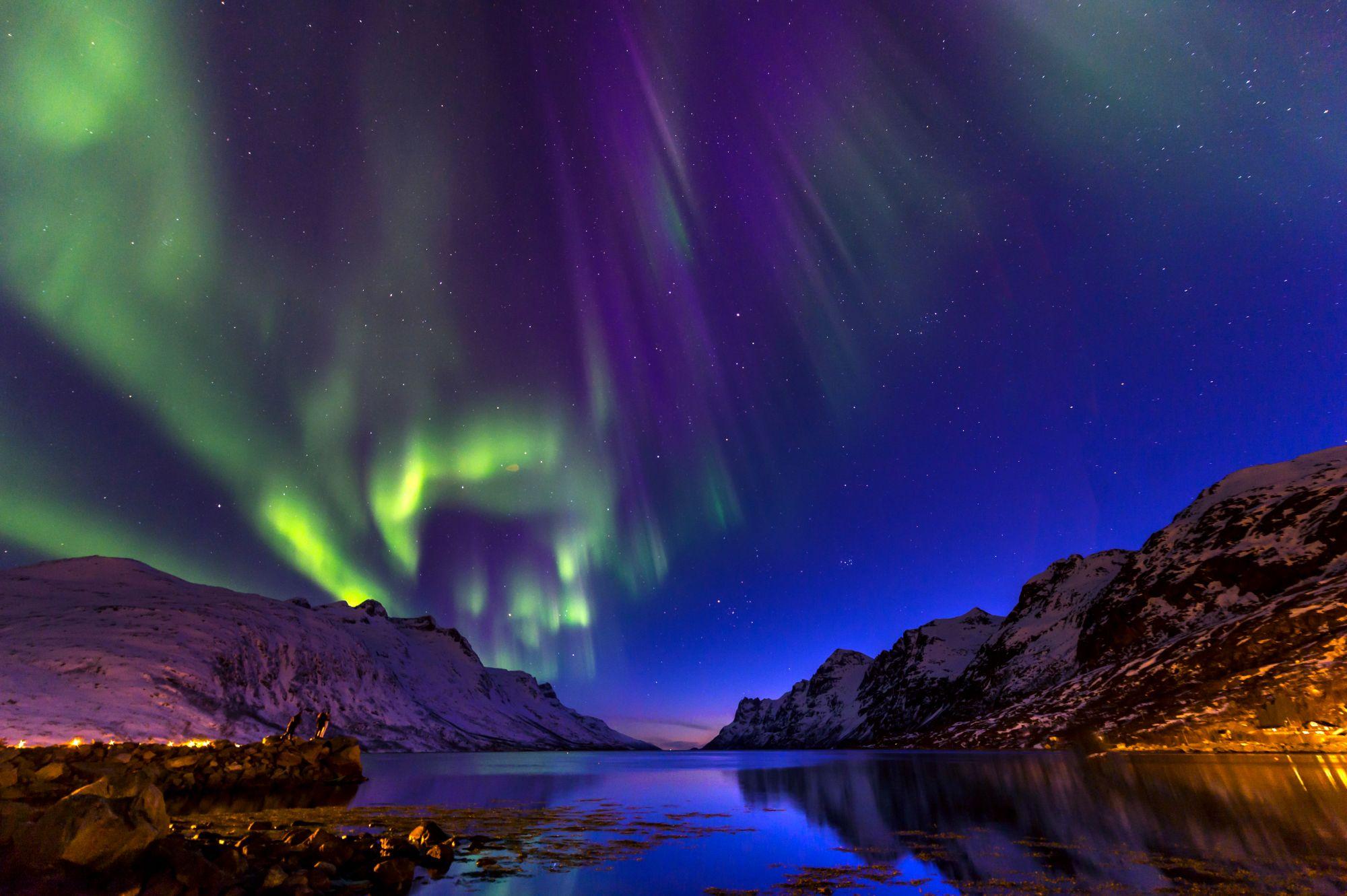 Tromso zorza polarna