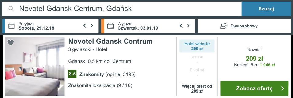 zarezerwuj hotel w gdansku