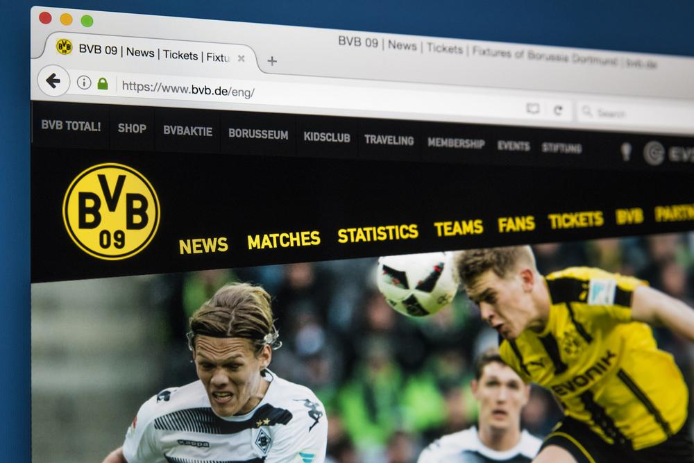 strona internetowa Borussi Dortmund