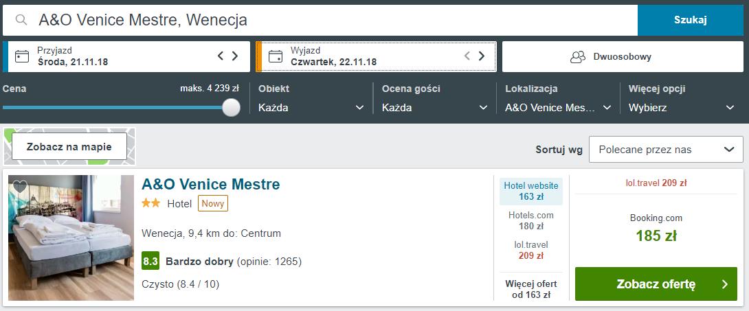Wenecja noclegi