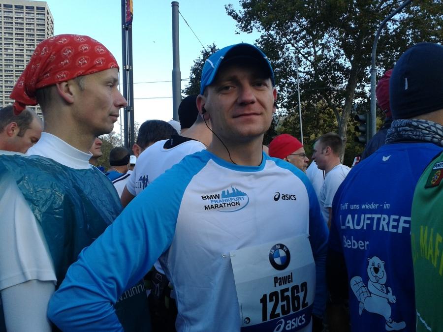 Paweł Kunz podczas Frankfurt BMW Marathon