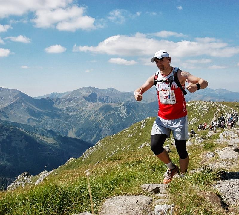 Paweł Kunz na trasie Biegu Ultra Granią Tatr