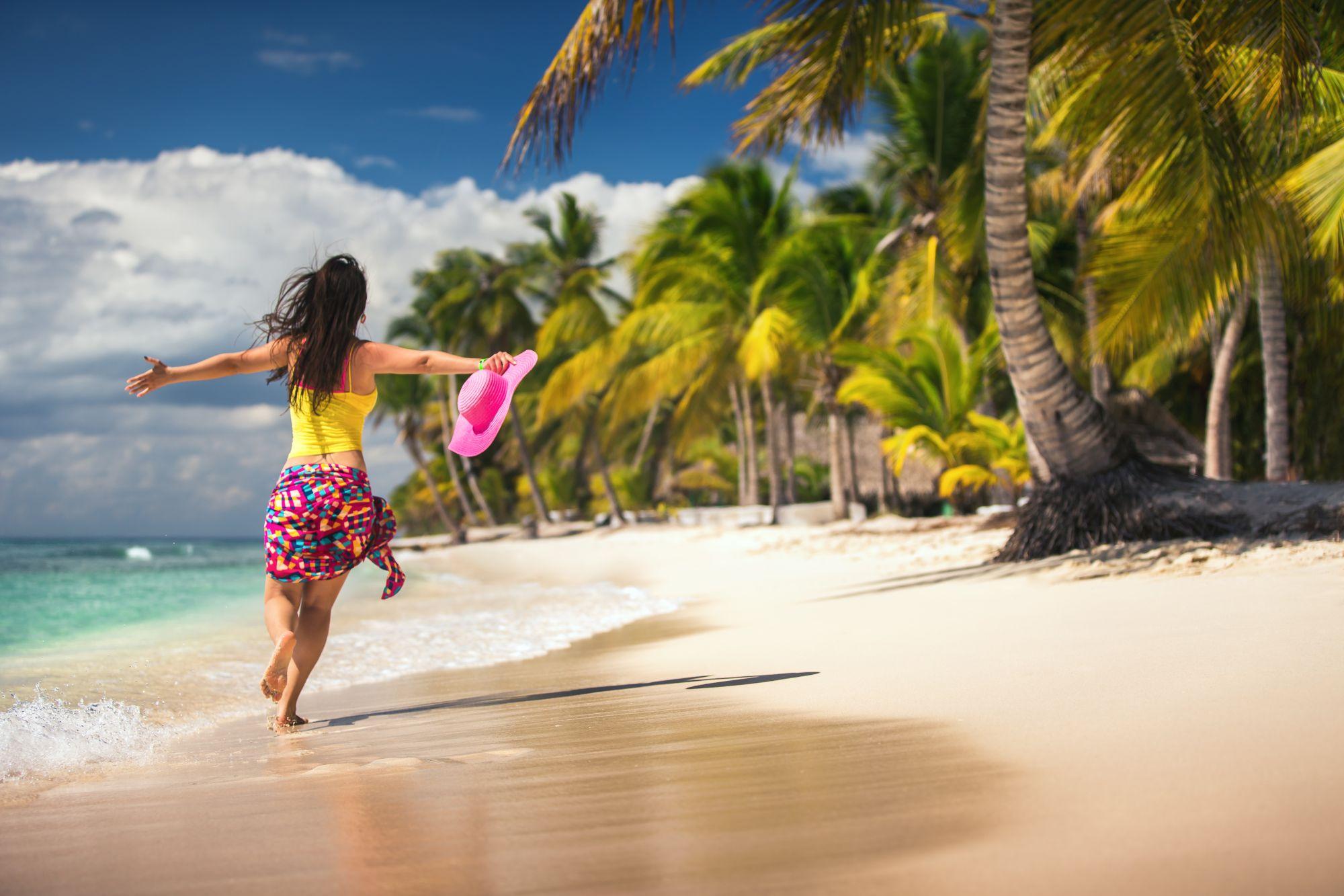 Dominikana kobieta na plaży