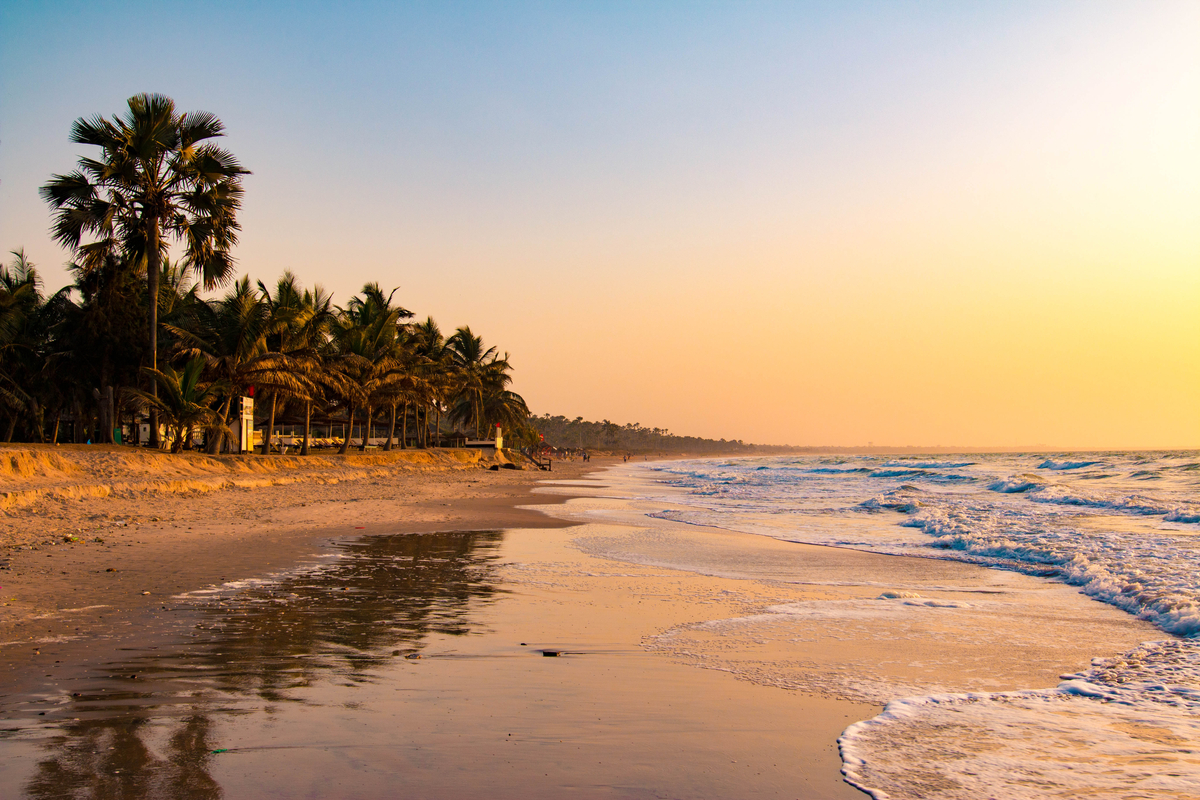 plaża w Gambii