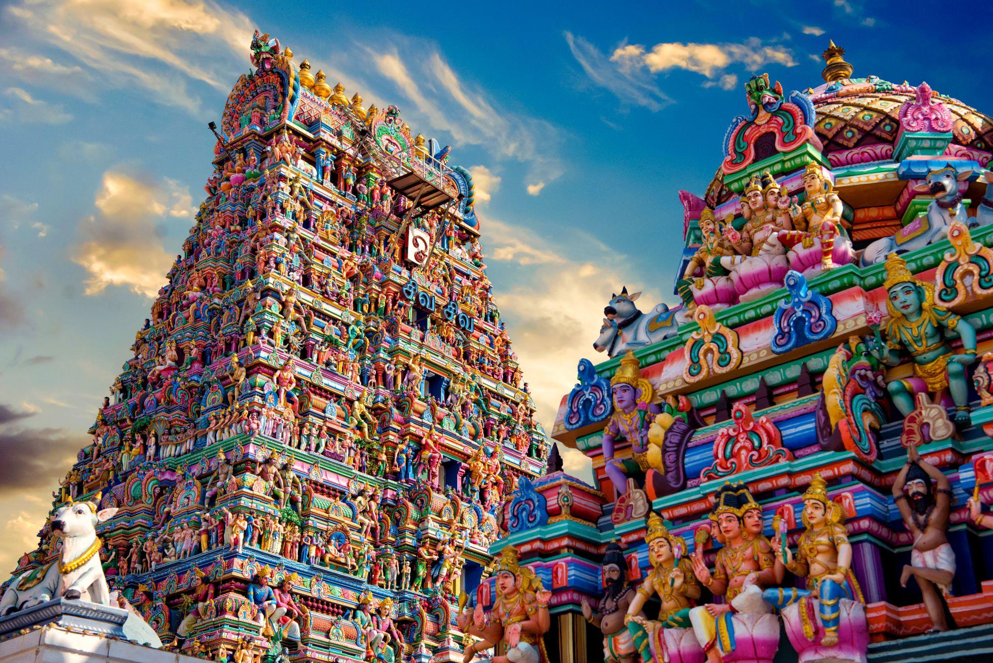 Indie widok świątyni