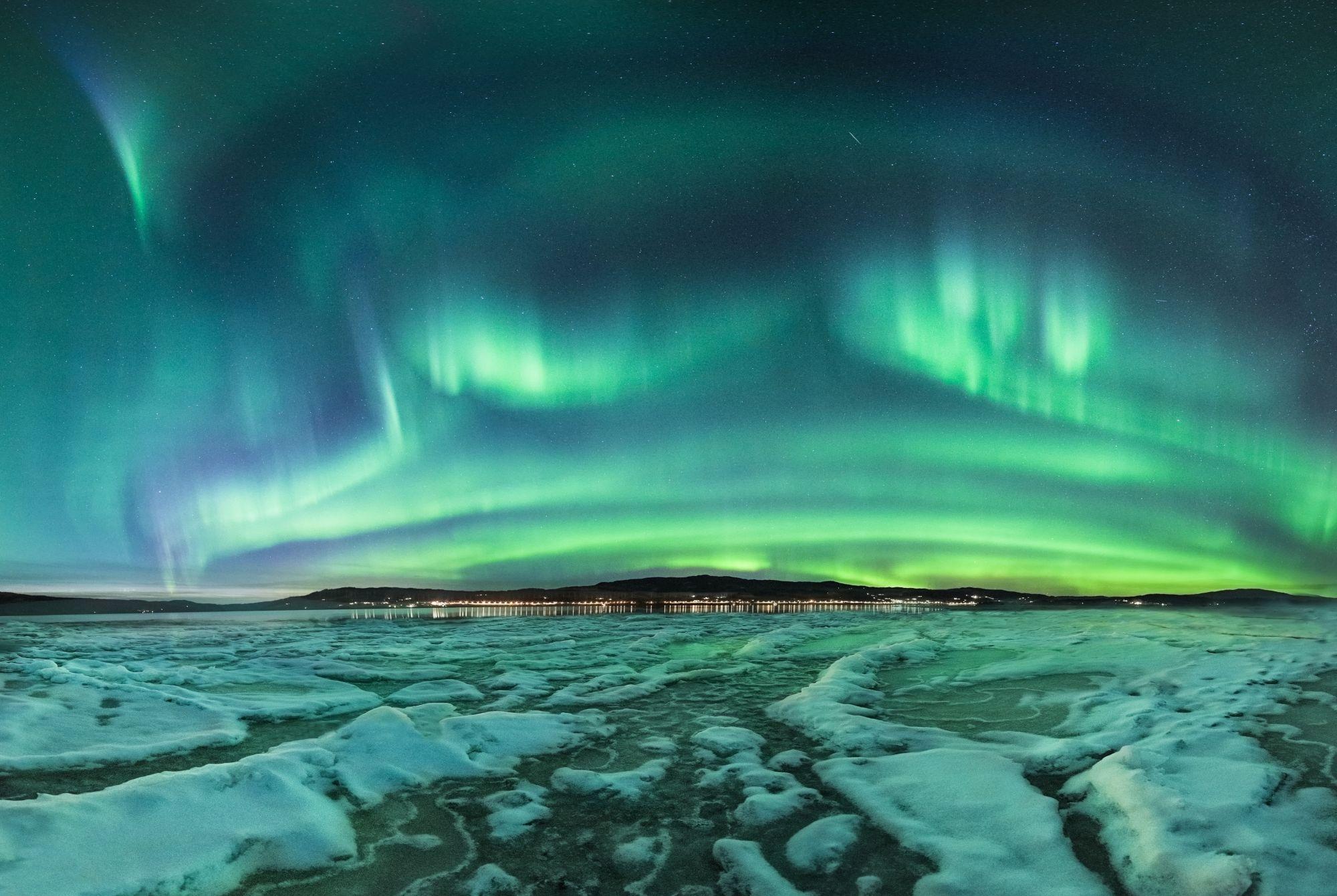 Trondheim zorza polarna