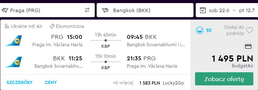 tanie loty do bangkoku
