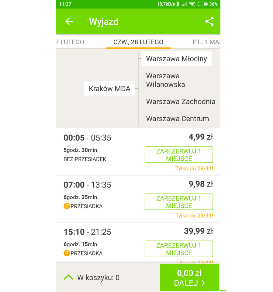 Warszawa z Krakowa