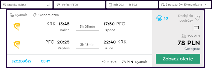 Pafos loty