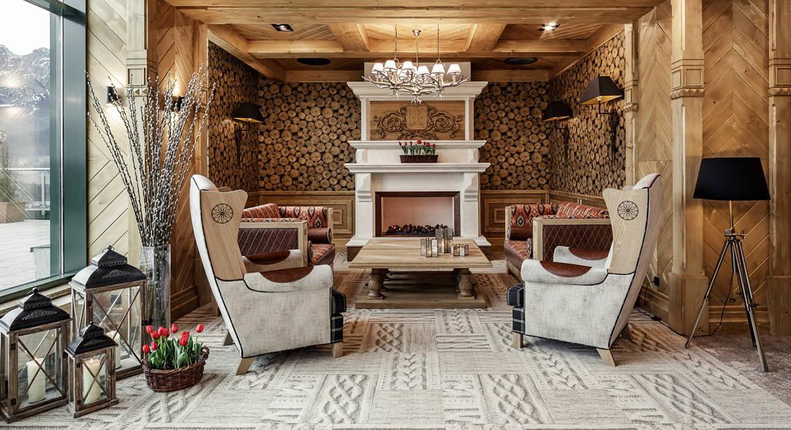 Fotele przy kominku