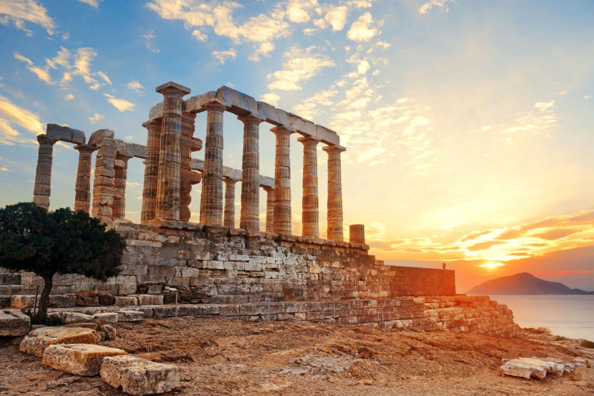 ruiny w Atenach