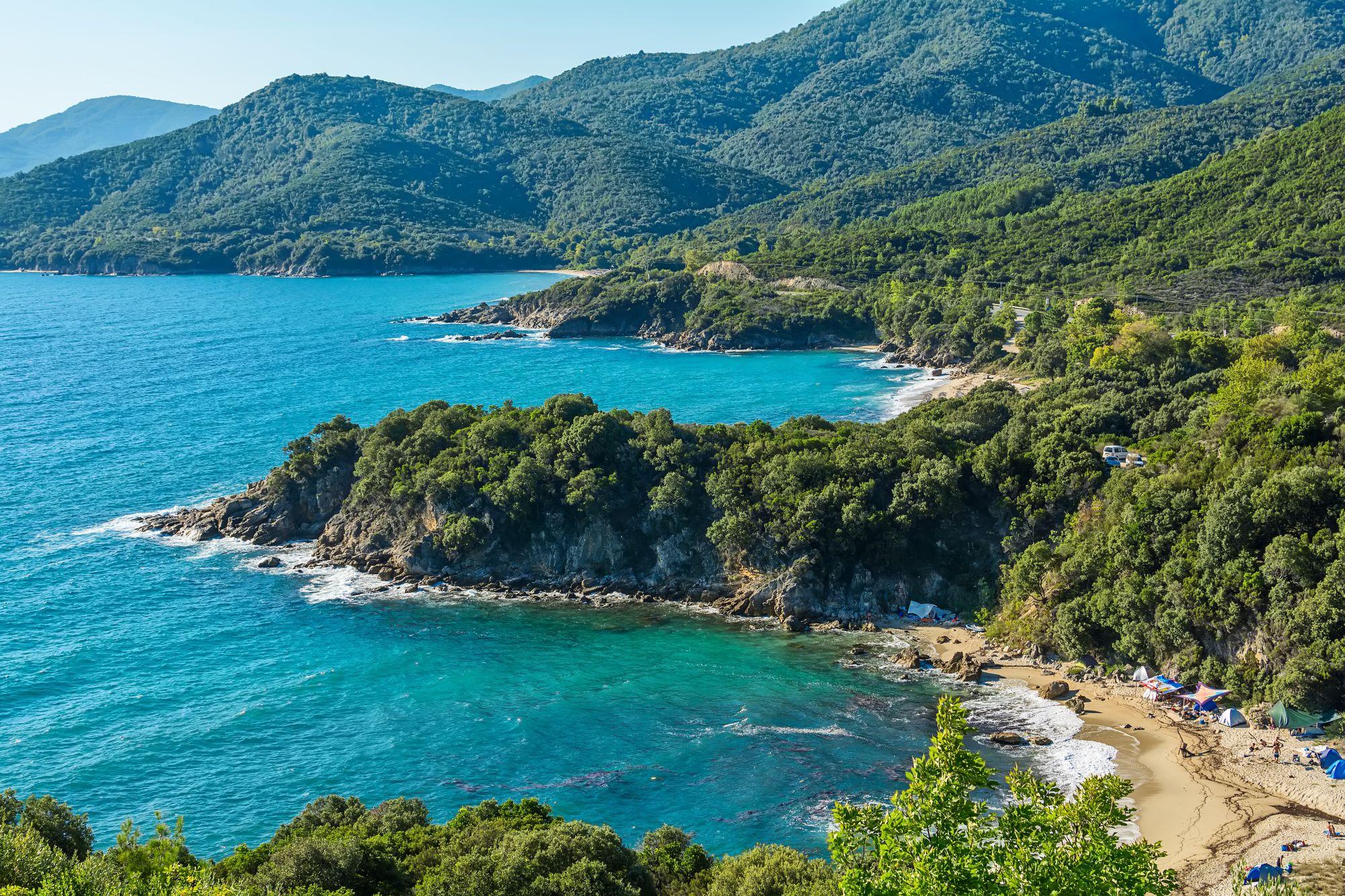 Chalkidiki widok plaży