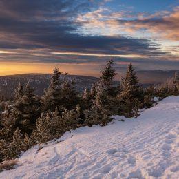 Karkonosze widok zimą
