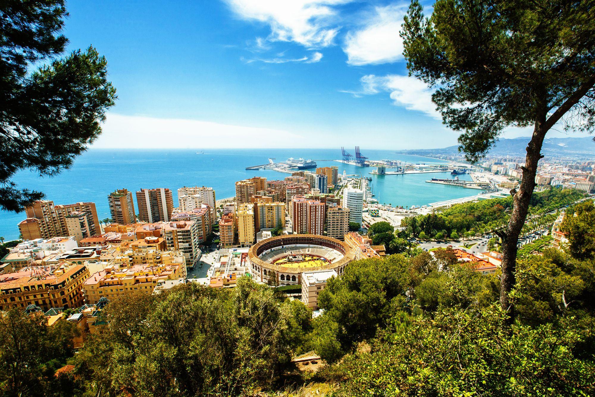 Malaga panorama miasta
