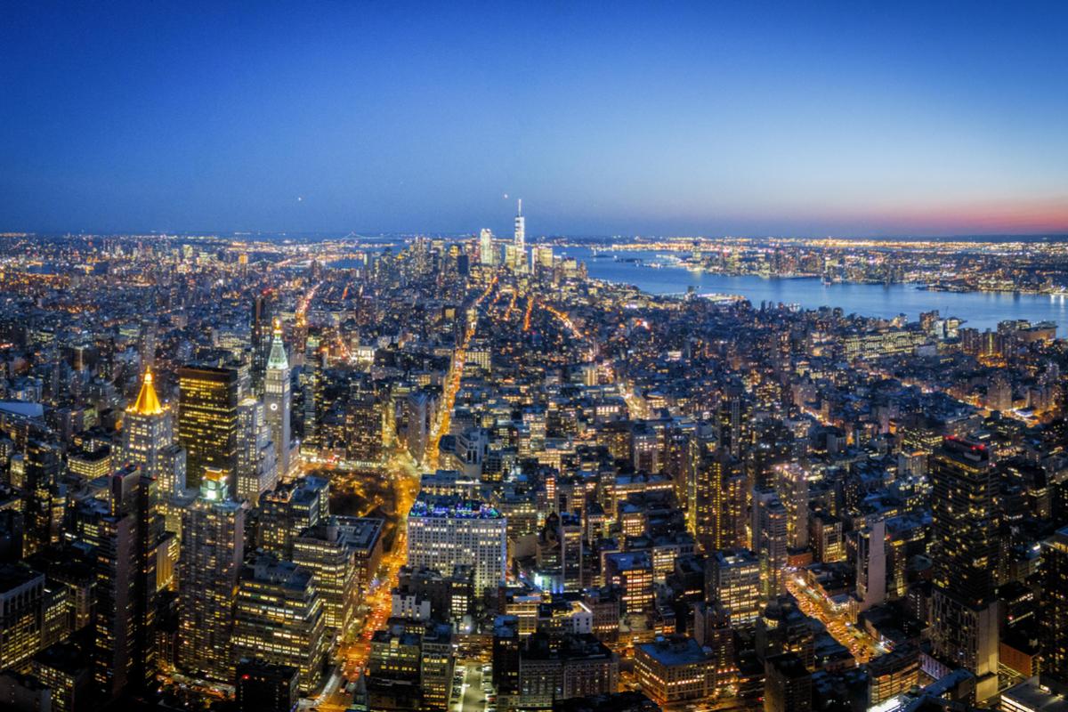Nowy Jork wieczór