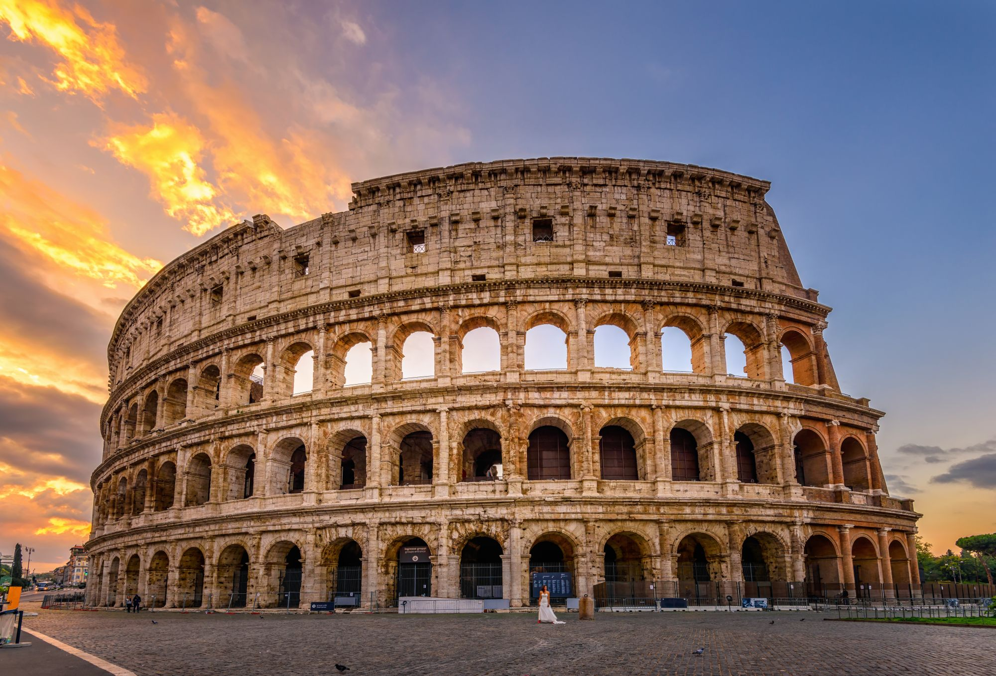 Rzym widok koloseum