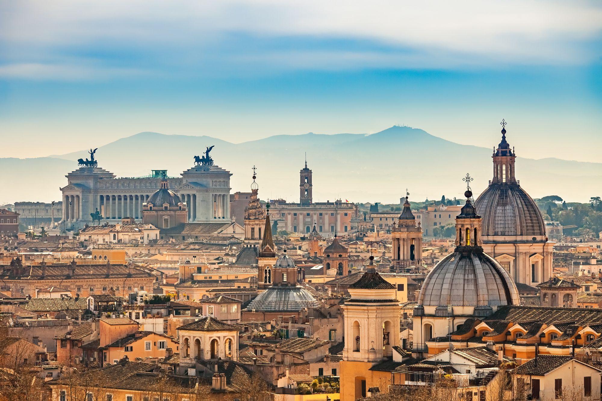 Rzym panorama miasta