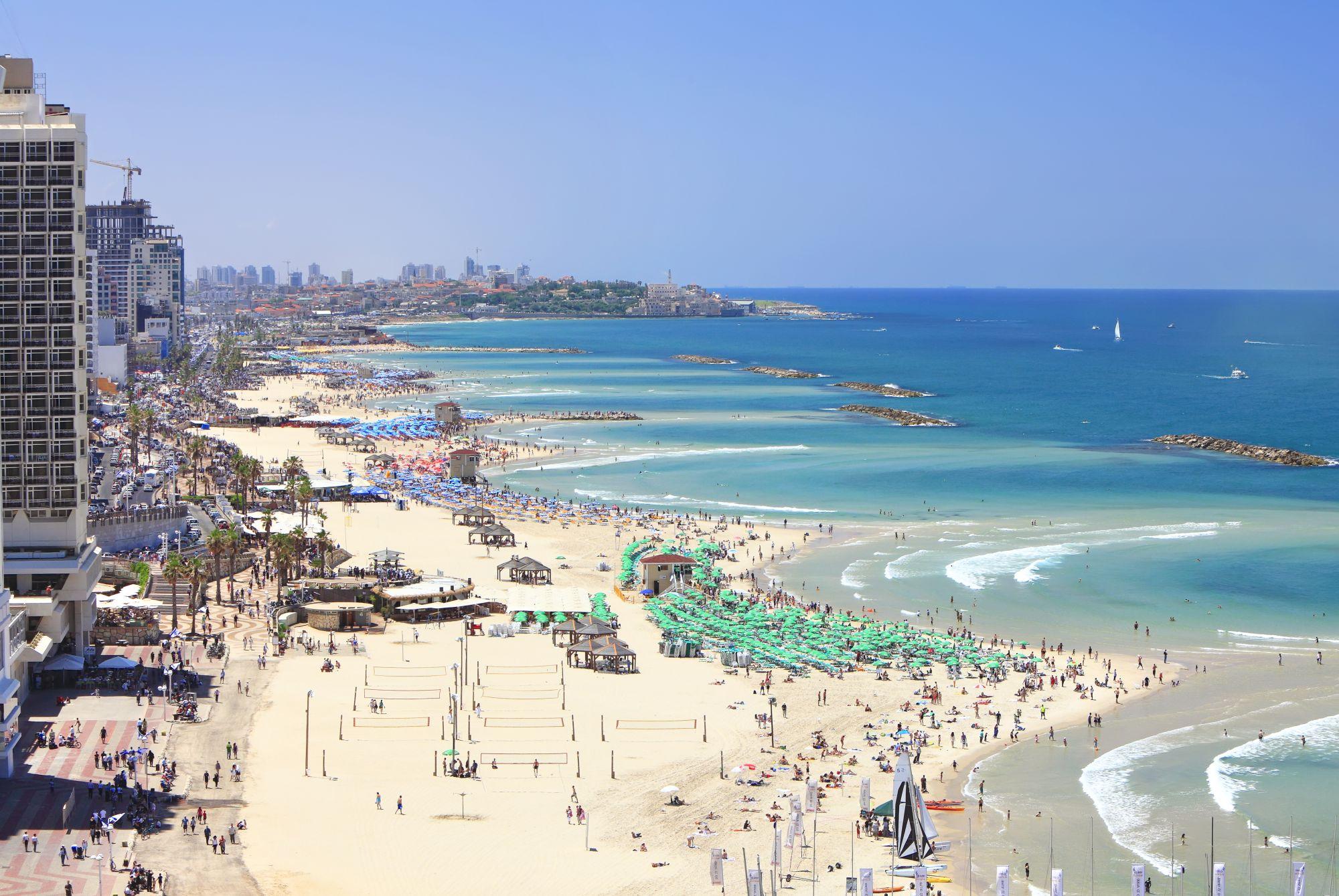 Tel Awiw widok plaży