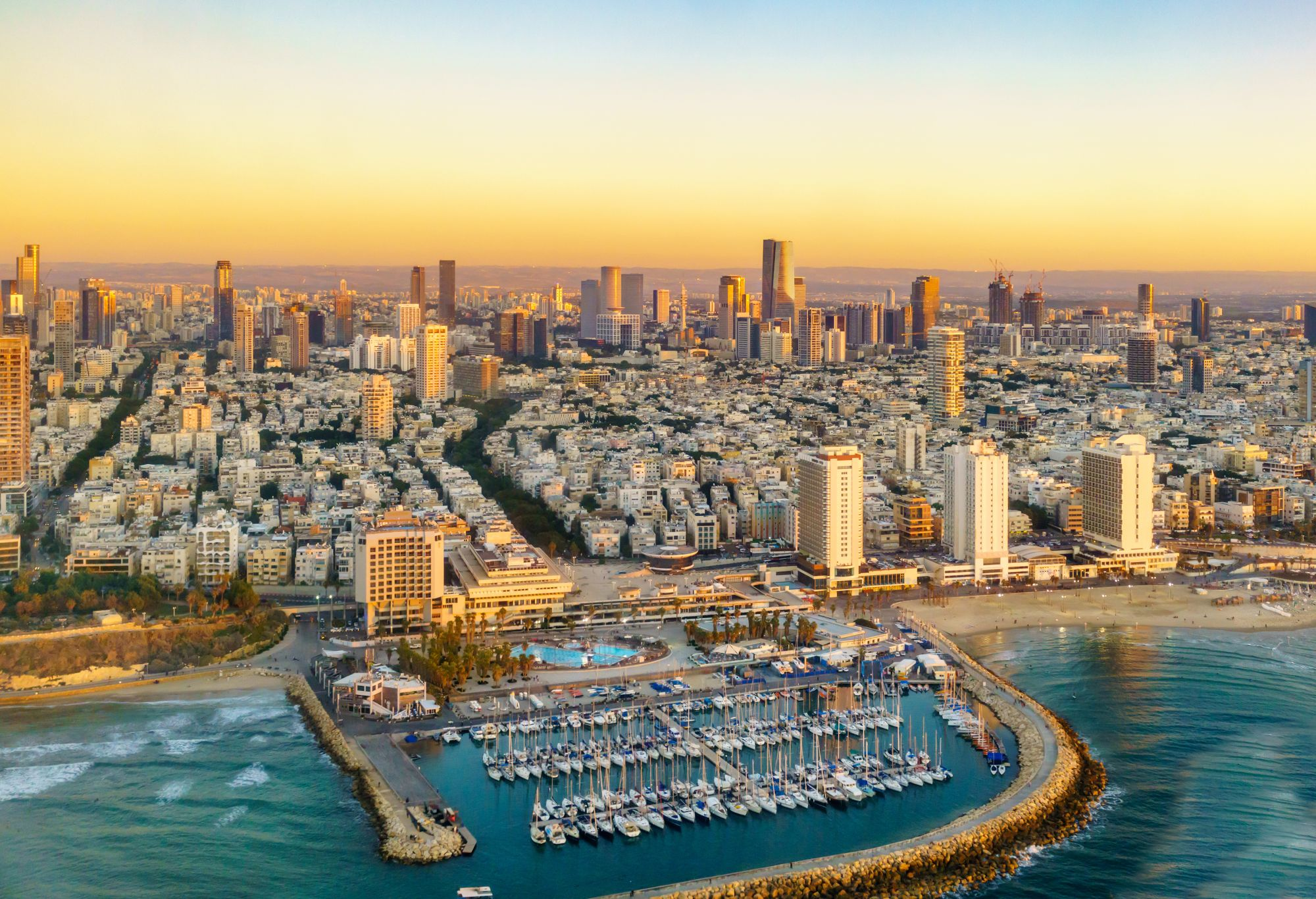 Tel Awiw widok miasta