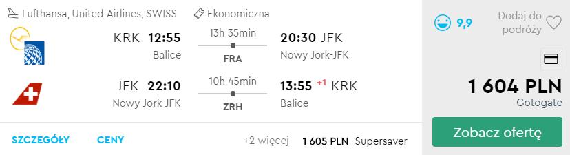 Nowy Jork z Krakowa
