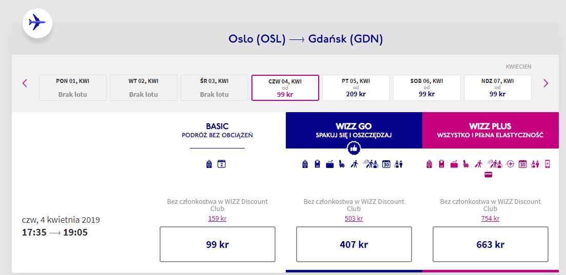 Gdańsk lot