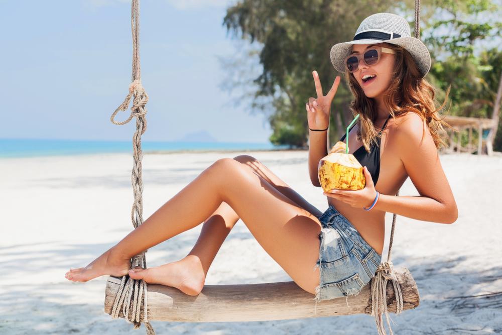 turystka na plaży