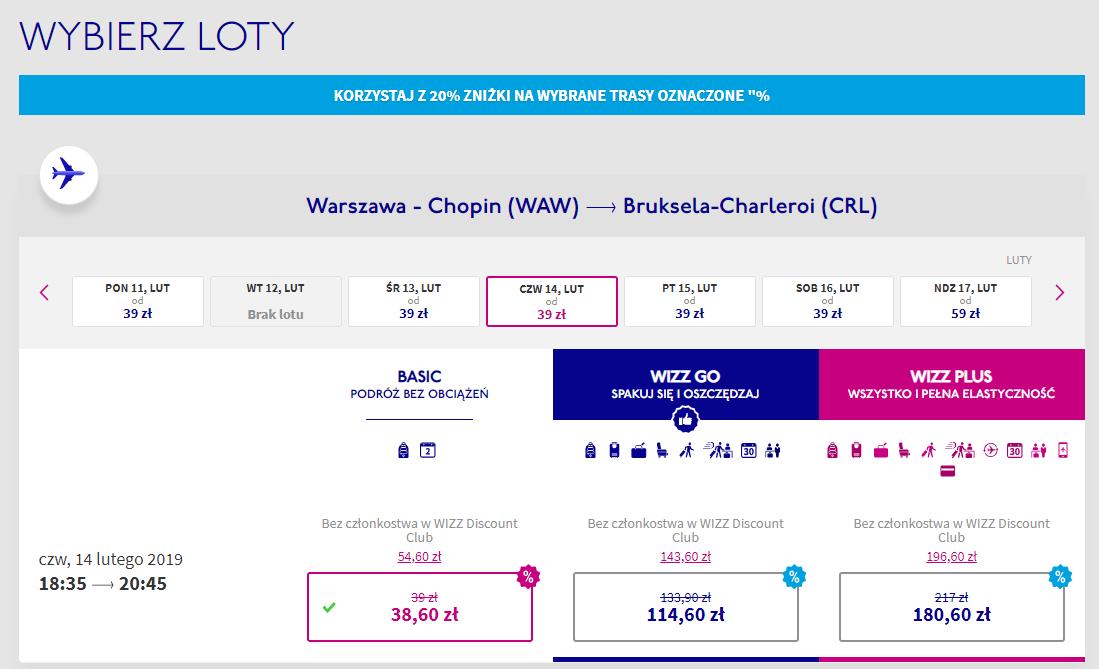 Wizz Air rezerwacja
