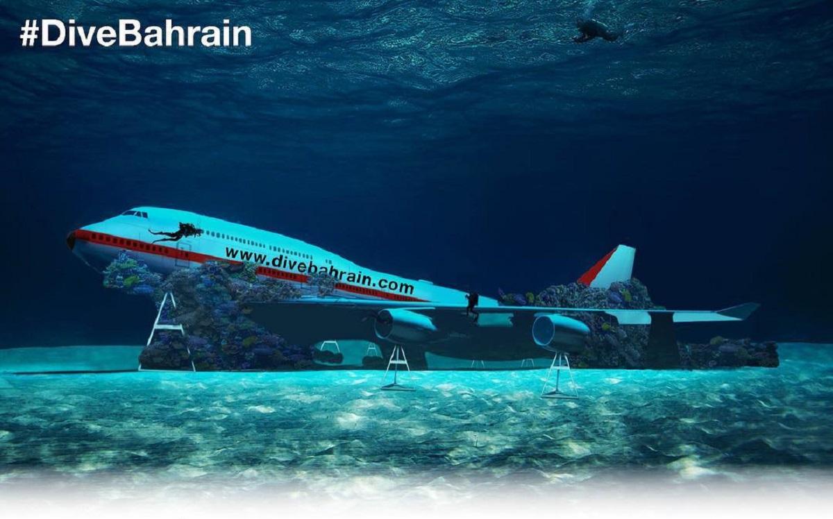 wrak samolotu pod woda